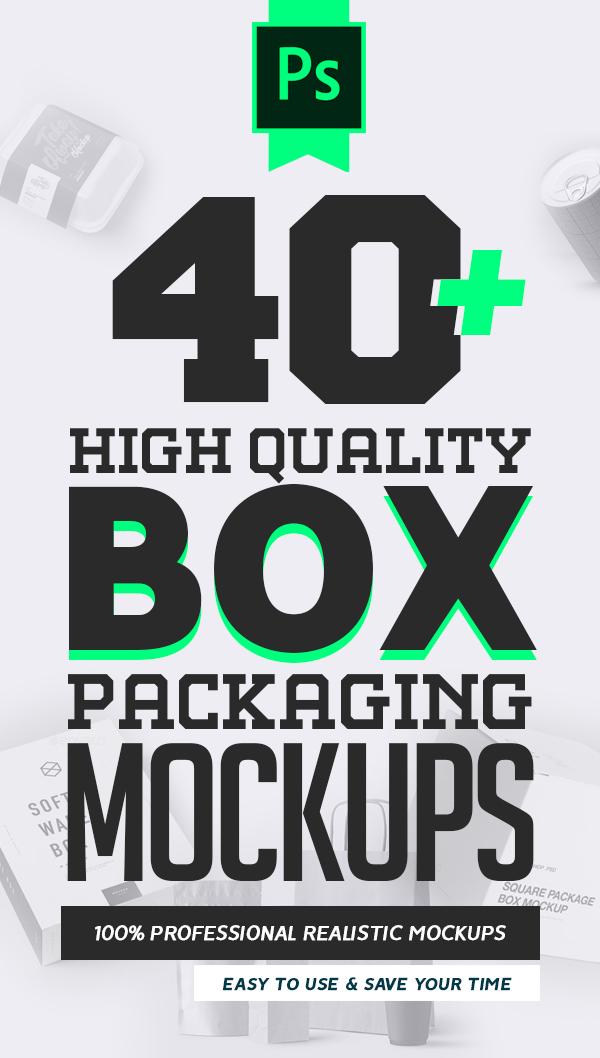 40+ Free Box Packaging Mockups