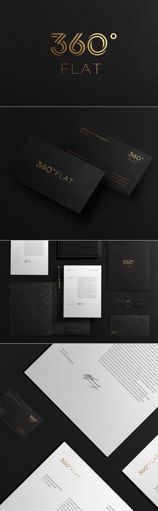 360° Flat Branding Identity by Sergey Dergachenko