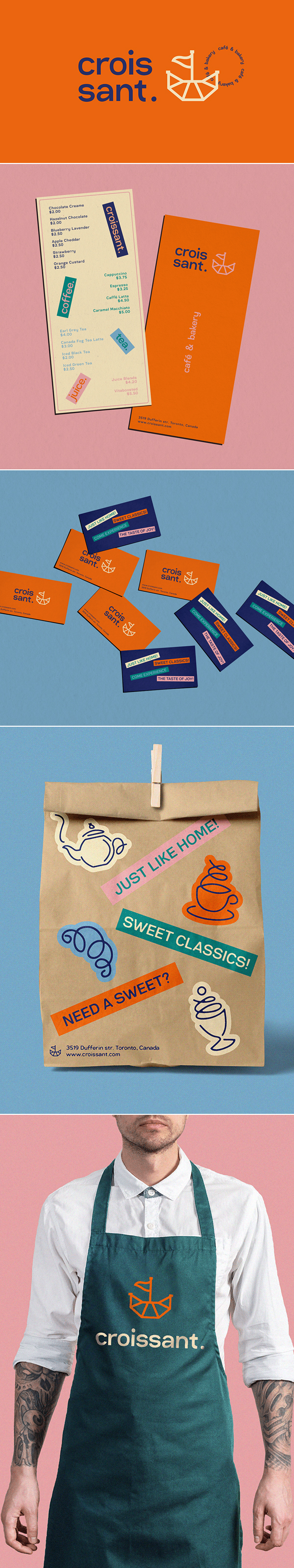 Croissant Cafe & Bakery Branding by Dave Arustamyan