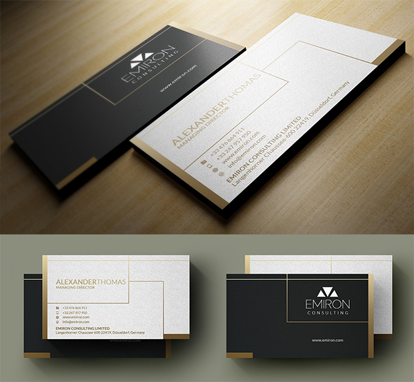 Luxury Gold Business Card
