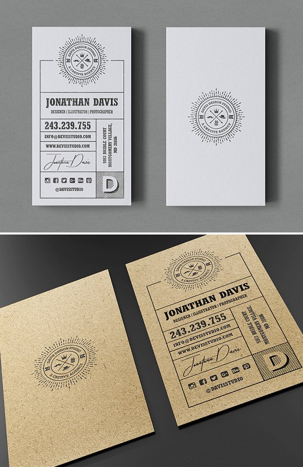 Kraft Agency Business Card Template