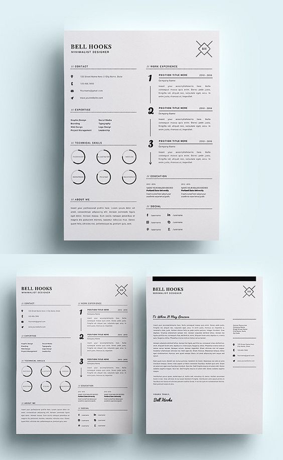 Minimal Designer Resume Template /CV