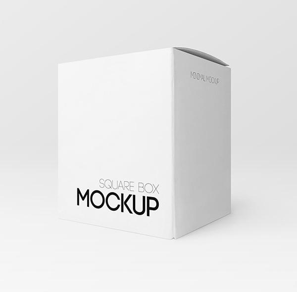 Free Long Square Box PSD MockUp