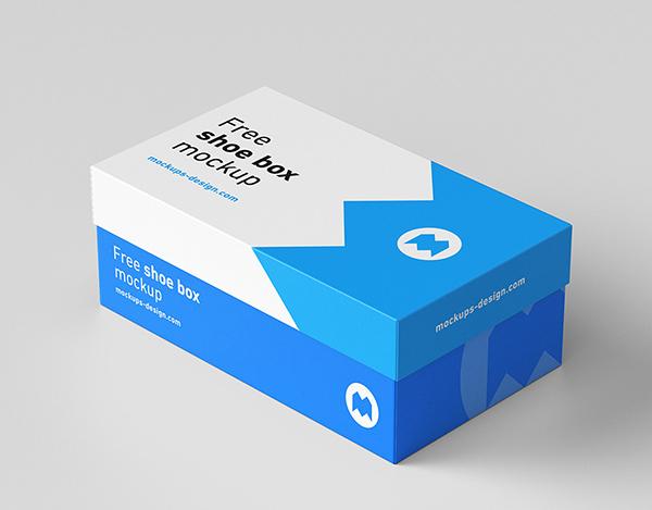 Free Shoe Box Mockup Rectangle
