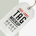 Post thumbnail of Free Label Tag Mockup PSD