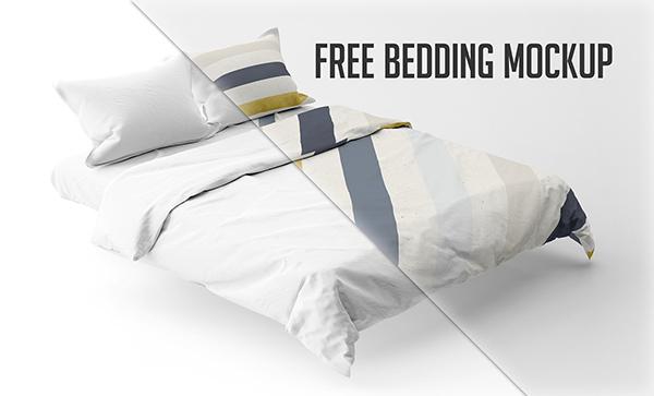 Free Bedding Mockup PSD
