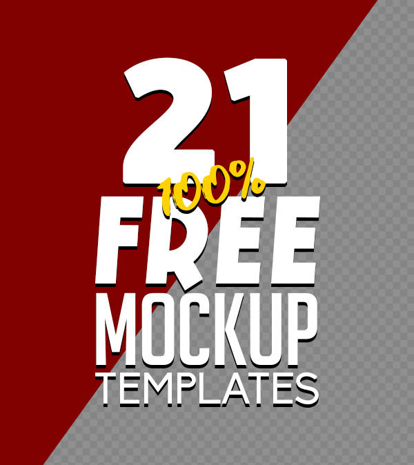 Fresh Free PSD Mockup Templates (21 Mock-ups)