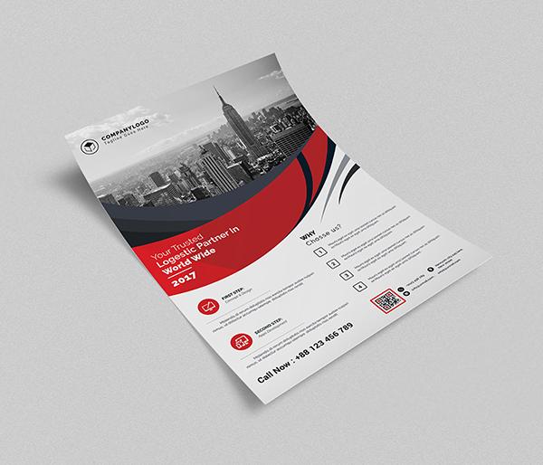 Free Isometric Flyer Mockup