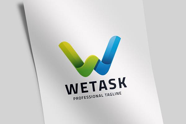 We Task - Letter W Logo