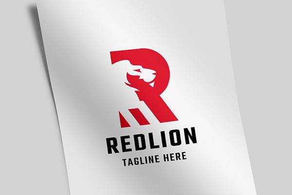 Red Lion Letter R v.2 Logo
