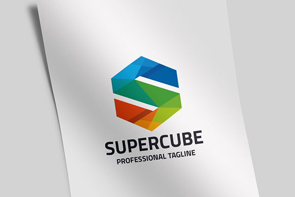 Super Cube Letter S Logo