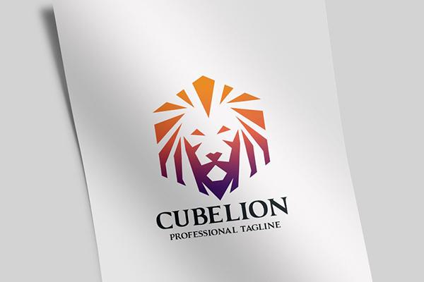 Cube Lion Logo