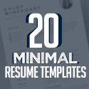 Post thumbnail of 20 Best Clean Minimal Resume Templates