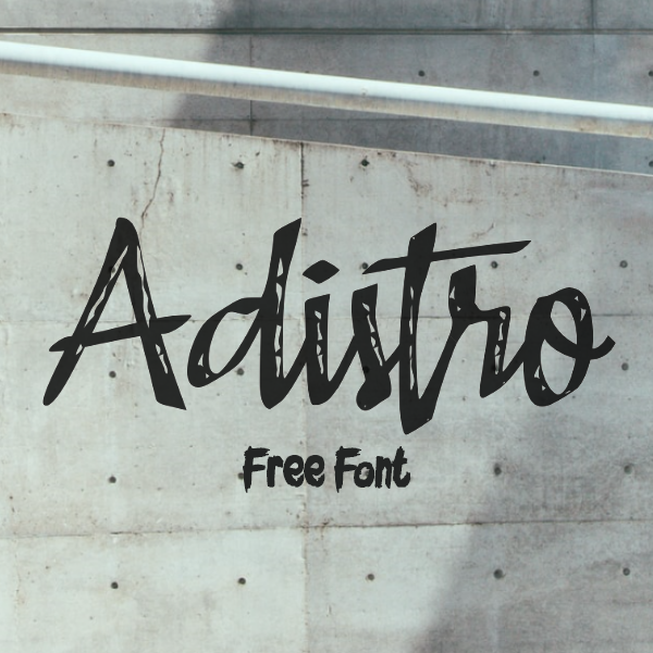 Adistro Brush Free Font