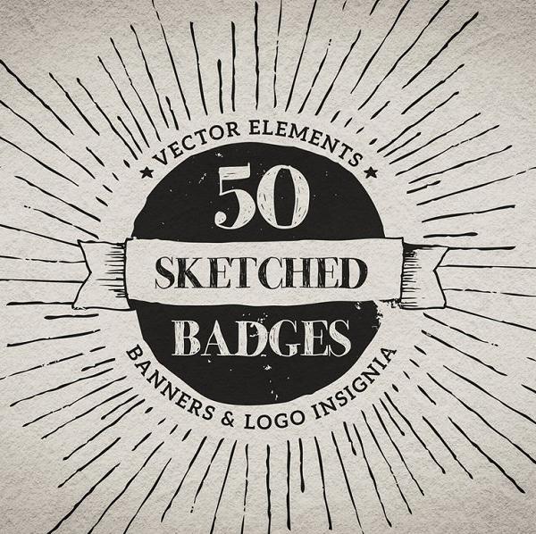 Hand drawn badges & insignia