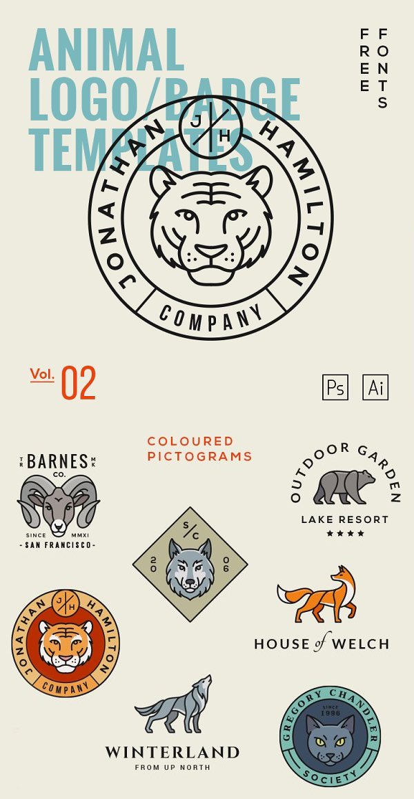 Animal Logo/Badge Templates