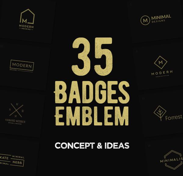 35 Creative Badges & Emblems Designs For Inspiration