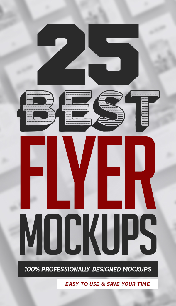 25 Best Free Flyer Mockups
