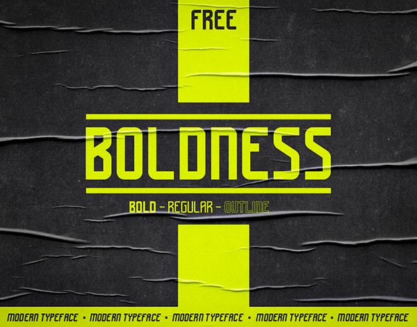 Boldness Bold Free Font
