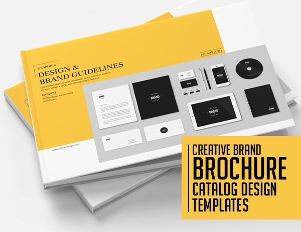 21 Creative Brochure and Catalog Design Templates