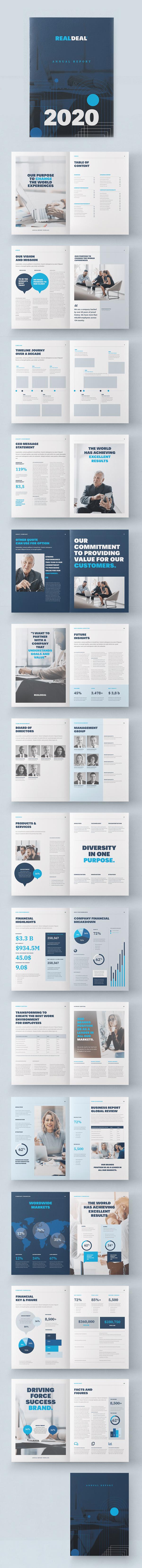 Corporate Blue Annual Report Template