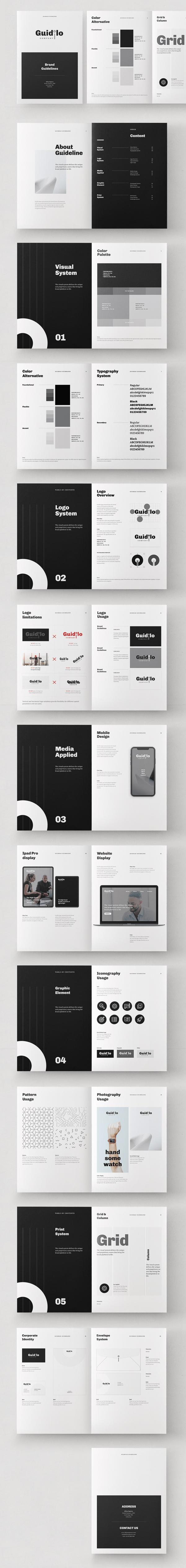 Brand Guideline Brochure InDesign Template