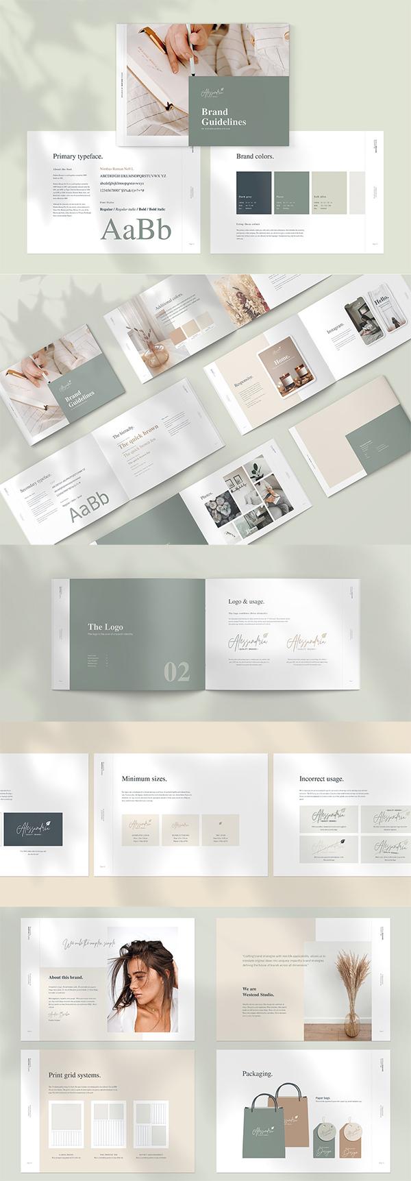 Brand & Logo Guidelines Brochure Template