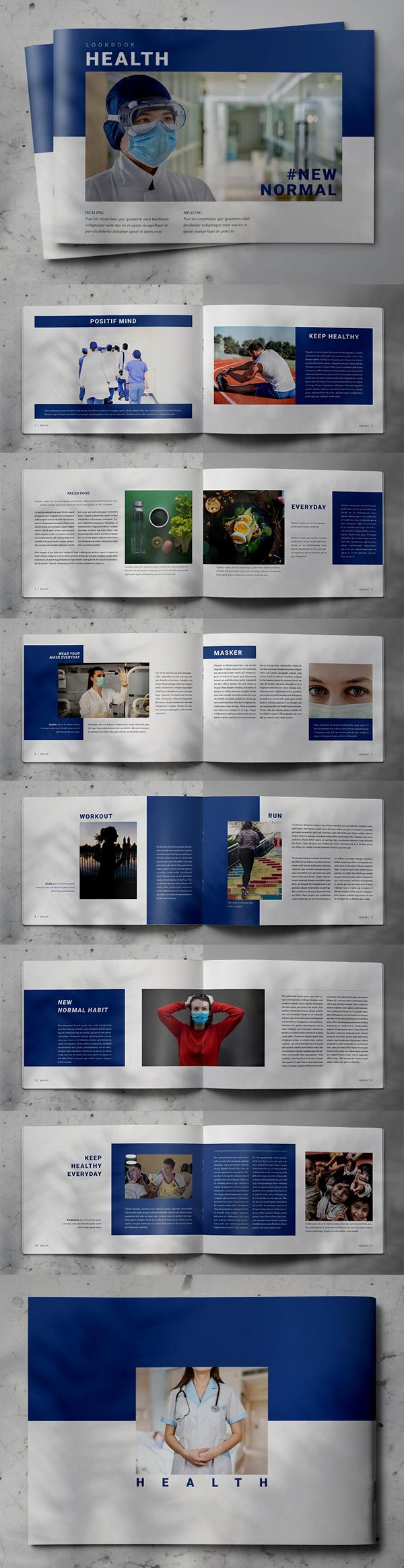 Brochure Lookbook Design for Health