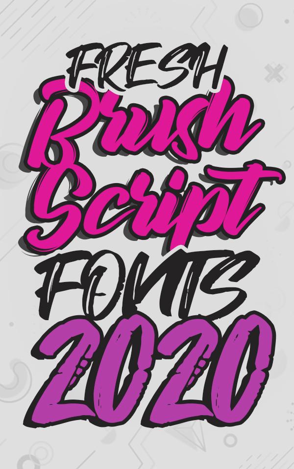 30+ Fresh Brush Fonts and Script Fonts