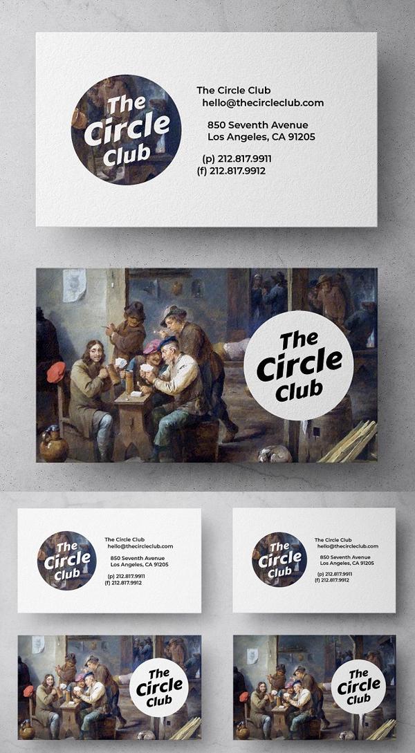The Circle Club Business Card