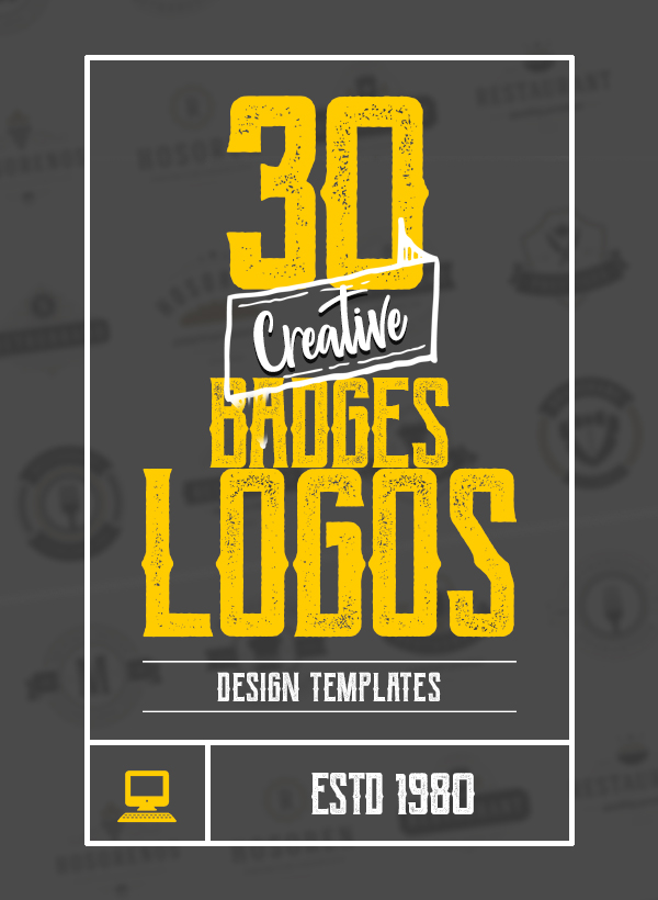 30 Creative Logos, Badges Designs For Inspiration