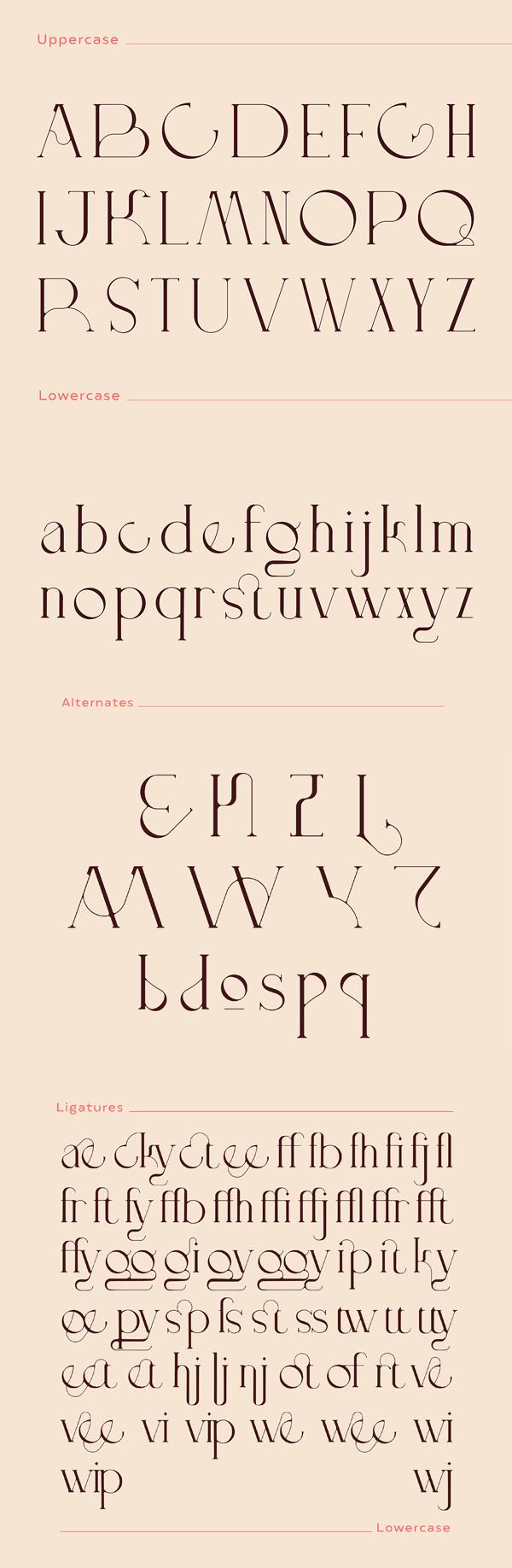 Doppelganger Free Font Letters