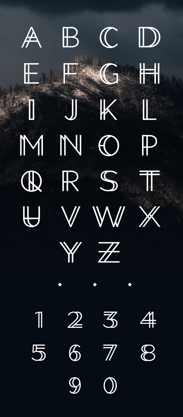Double Cross Free Font Letters