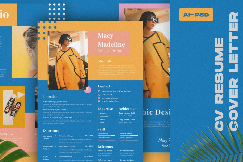 Blue/Yellow Resume