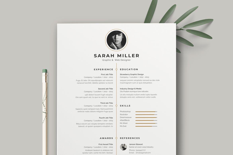 Resume Template CV Simple