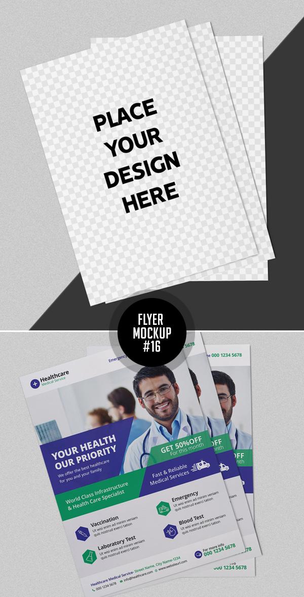 Best Free Flyer Mockups - 16