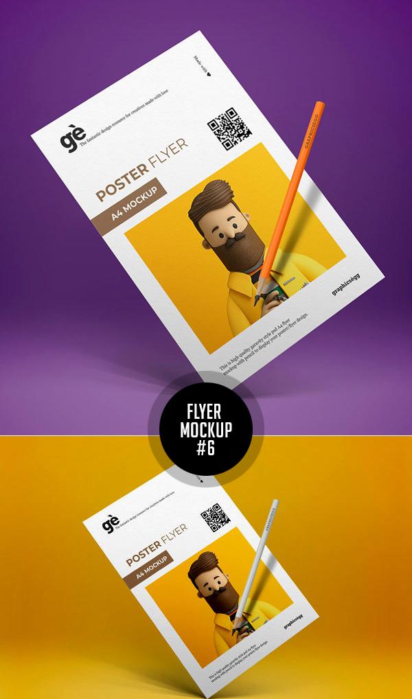 Best Free Flyer Mockups - 6