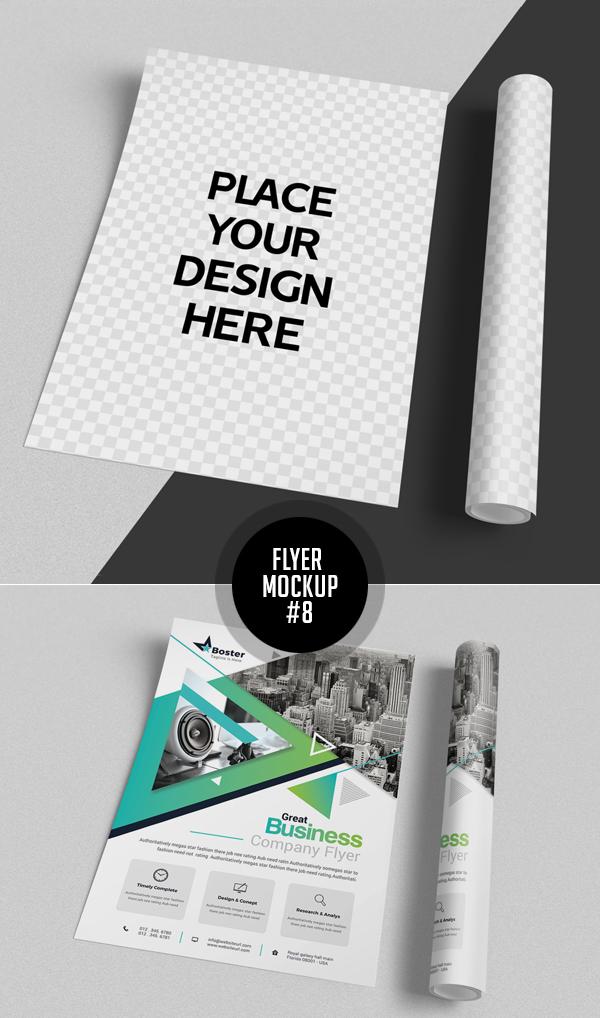 Best Free Flyer Mockups - 8