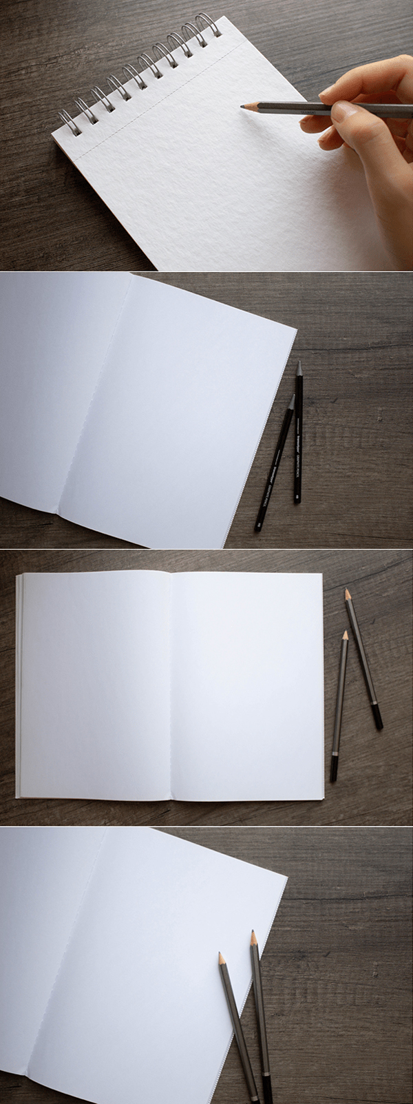 Free Sketchbook Mockups