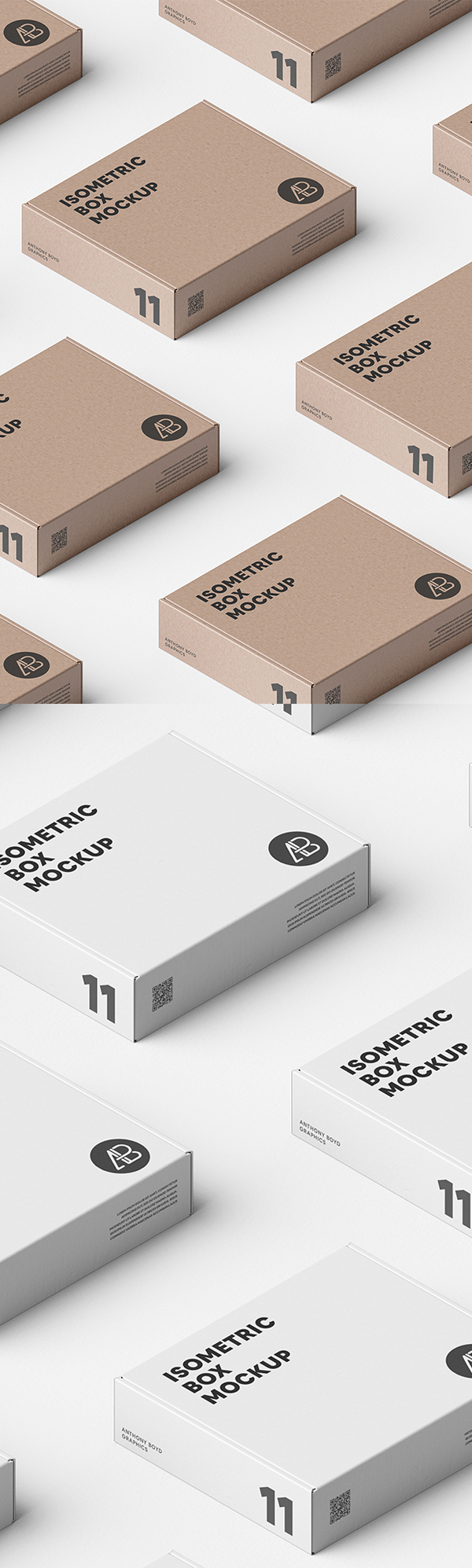 Free Box Grid Mockup