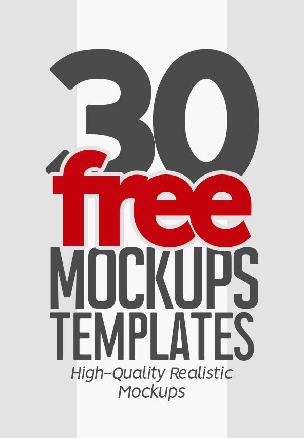 Free Mockups: 30 Fresh PSD MockUp Templates