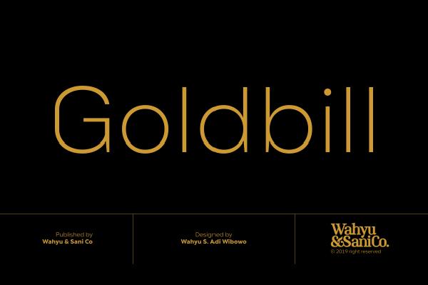 Goldbill XL Free Font