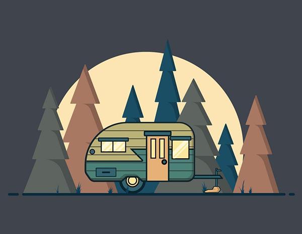 How to Make a Night Landscape Background Design in Illustrator Tutorial