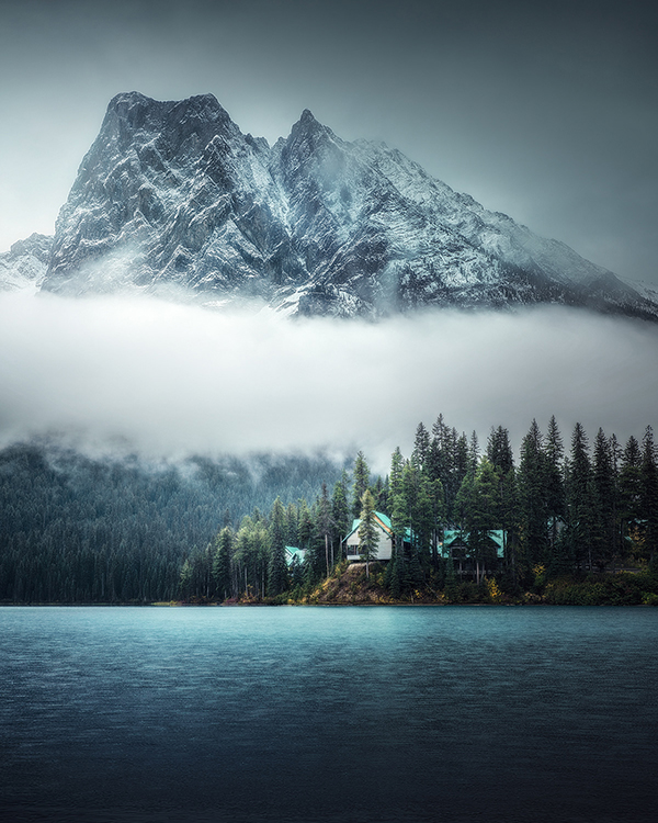 Morning rain in the mountains in Canada Photography by Kai Yan