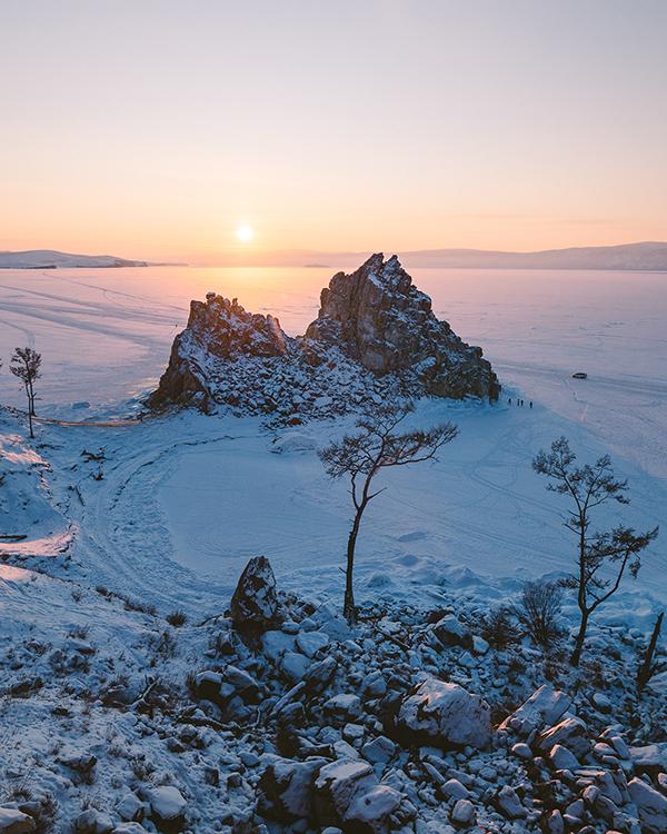 Epic frozen lake Baikal, Russia Roman Manukyan