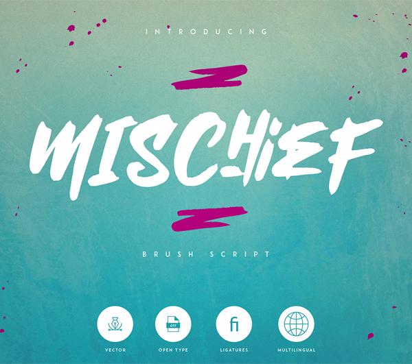 Mischief Brush Script Free Font