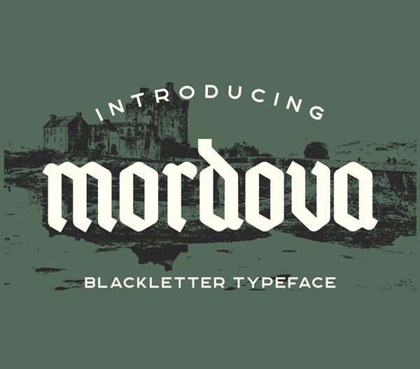 Mordova Blackletter Free Font