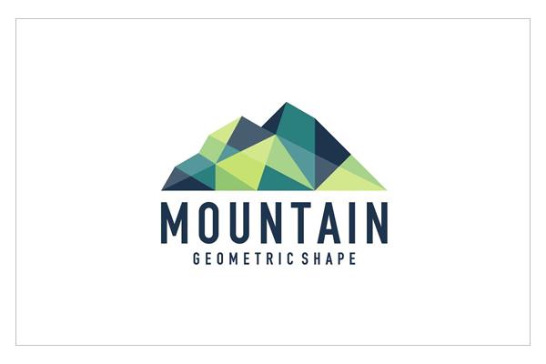 Abstract geometric mountain logo