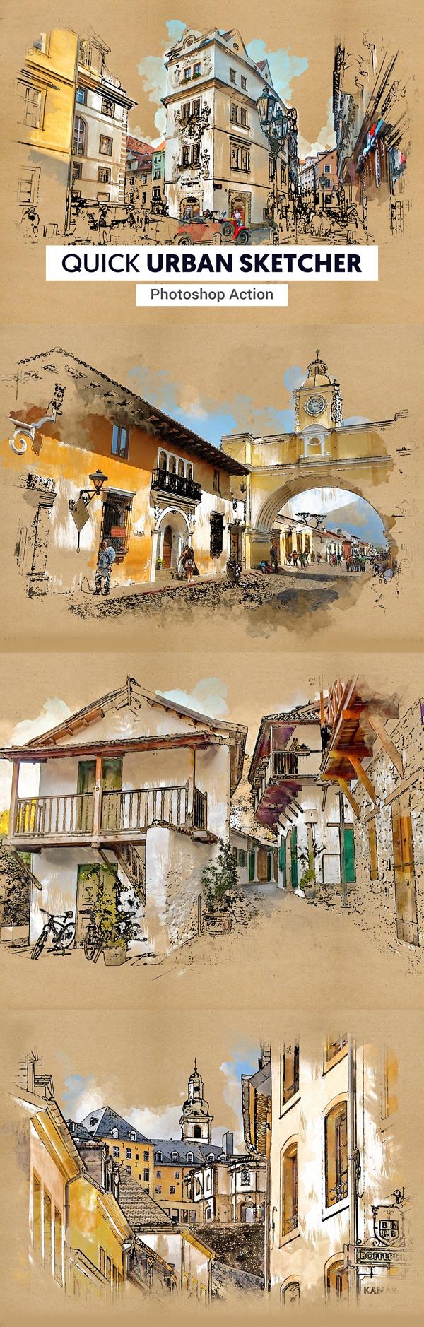 Urban Sketcher Photoshop Action