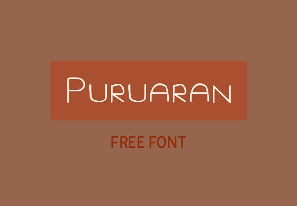 Puruaran Free Font
